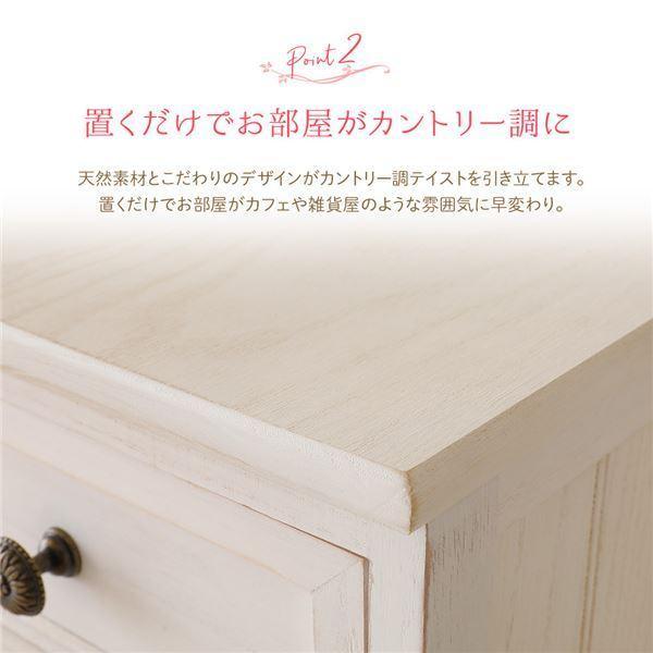 テーブル | カントリー調 サイドチェスト/サイドテーブル (幅35cm) シャビーホワイト 天然木 軽量 Rural ルーラル (完成品)|arinkurin2|03
