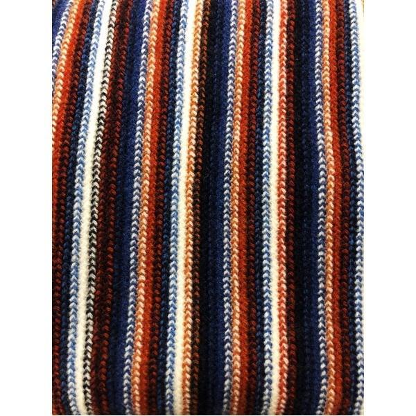 ファッション | 英国製 100%Pure LAMBSWOOL WILLIAM LOCKIE ウィリアムロッキー ストライプマフラー ブラウン|arinkurin2|02