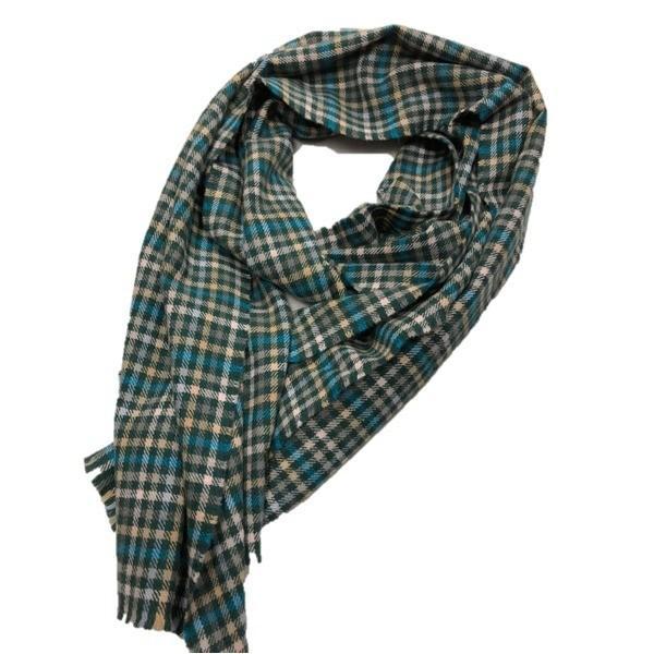 ファッション | 英国製 100%CASHMERE タータンマフラー グリーンチェック|arinkurin2|03