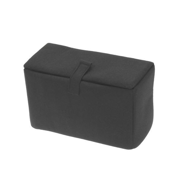 (まとめ) エツミ インナーボックス フラップC ブラック VE6707 (×3)