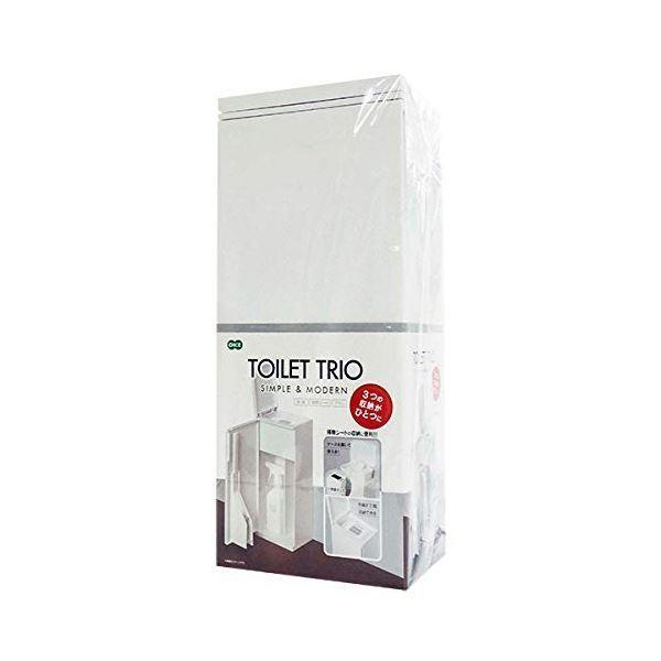 日用雑貨 | トイレ用 収納ボックス (ホワイト) トイレブラシ ケース付き 掃除シート収納可 トイレトリオ 『オーエ』 (レストルーム)|arinkurin2