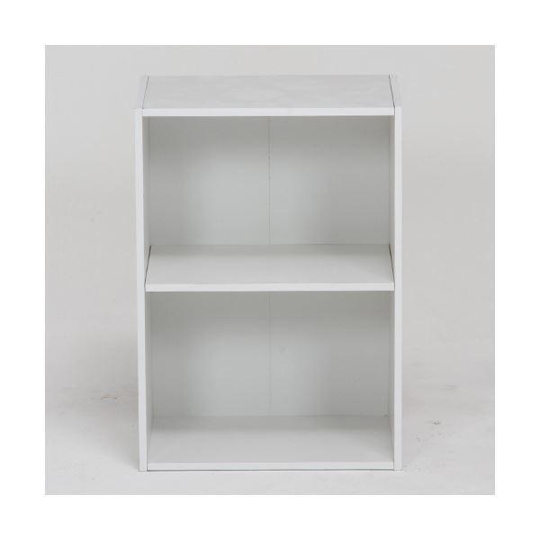 収納家具 | カラーボックス 可動棚2段 ホワイト|arinkurin2|02