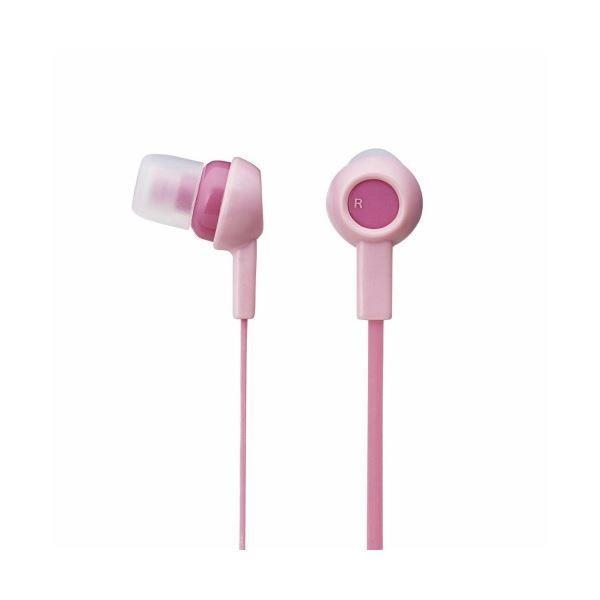 (まとめ)エレコム ステレオヘッドホン(耳栓タイプ) EHPC3520PNL(×5)