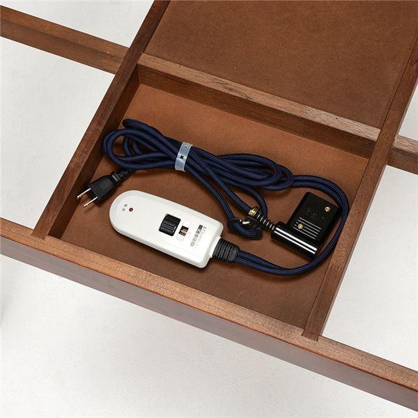 こたつ   木目調ダイニングこたつテーブル 本体 (正方形幅90cm) 木製 『YUKI』 継ぎ足付き