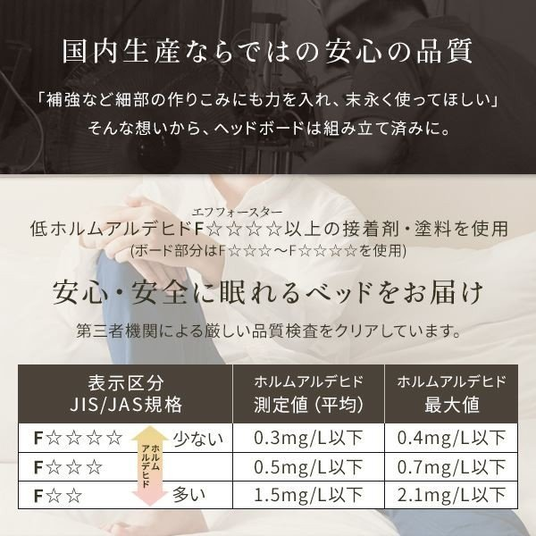 照明付き 宮付き 国産フロアベッド セミダブル (フレームのみ) ホワイト 『illume』イリューム 日本製ベッドフレーム arinkurin 05