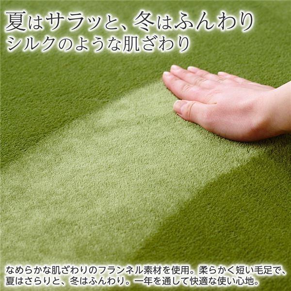 ラグマット | 防ダニ・抗菌・防臭フランネルラグマット/絨毯 〔レギュラータイプ/約130×185cm ピンク〕 厚み8mm 長方形|arinkurin|06