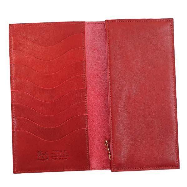 長財布 | IL BISONTE(イルビゾンテ) フラップ長財布 C0974 245 RUBY RED