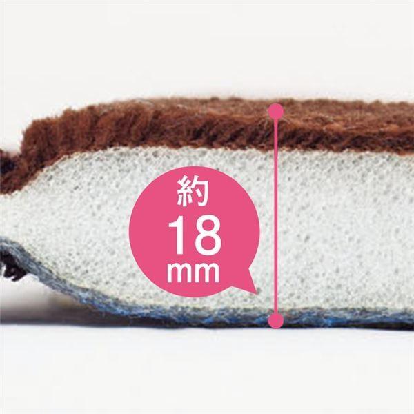 ラグマット | 撥水 厚みふかふかボリュームタッチラグマット/絨毯 〔ブラウン 約90cm×120cm〕 厚み約18mm 長方形 折りたたみ|arinkurin|02