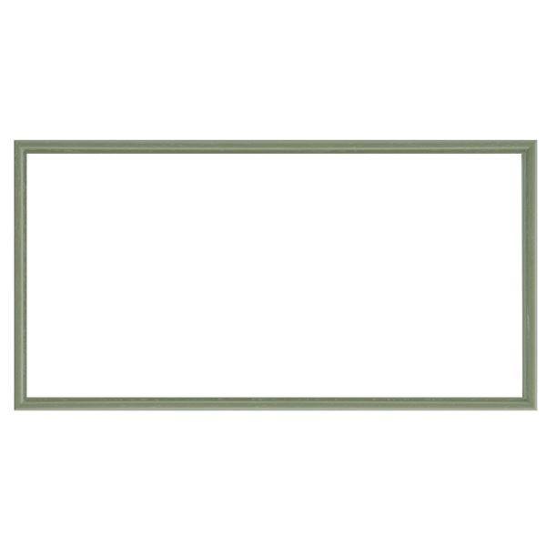 額縁 | ナチュラル仕様 額縁フレーム (横長型 350×200 グリーン) 吊金具付き 木製|arinkurin