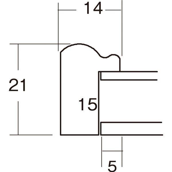 額縁 | ナチュラル仕様 額縁フレーム (横長型 350×200 グリーン) 吊金具付き 木製|arinkurin|02