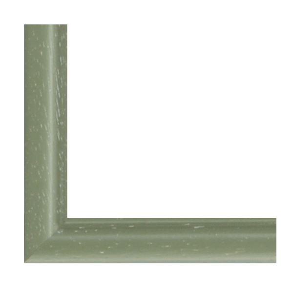 額縁 | ナチュラル仕様 額縁フレーム (横長型 350×200 グリーン) 吊金具付き 木製|arinkurin|03