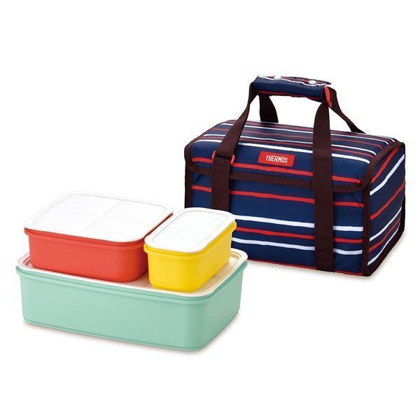 (THERMOS サーモス) フレッシュランチボックス行楽弁当箱 (4〜6人用 ネイビー) 食洗機対応 専用保冷バッグ付き arinkurin