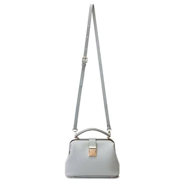 トートバッグ | 柔らか素材 パカッと開くがま口タイプのハンドバッグインディピンク