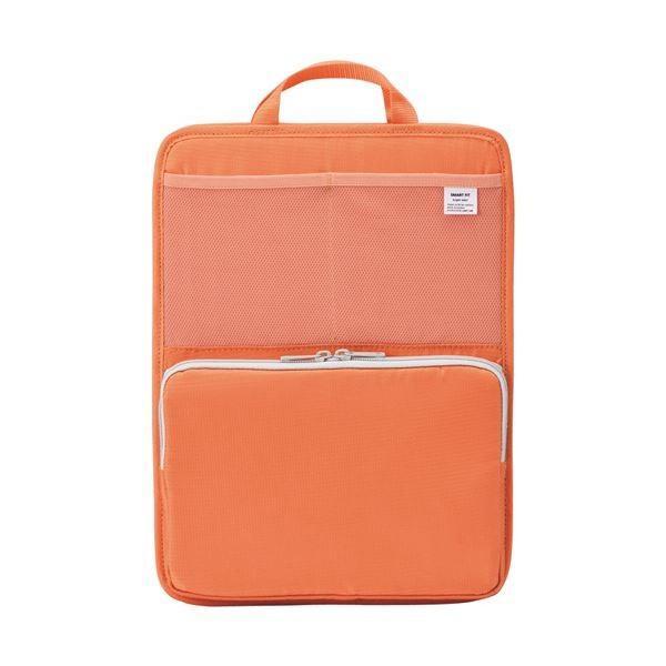 (まとめ)リヒトラブ SMART FITbright label スタンドポケット (タテ型) A4 オレンジ A76684 1個(×2)