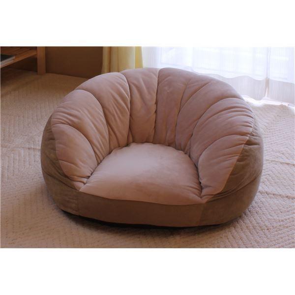 一人掛けソファ | アキレス シングルソファー座椅子 (ベージュ) 1人掛け コンパクトスタイル 中材:ウレタンフォーム、ポリエステルわた|arinkurin