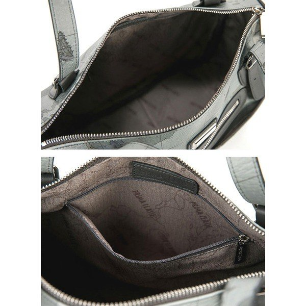 エコバッグ   PRIMA CLASSE(プリマクラッセ)PSH86174 肩掛け可能なボストン型ハンドバッグ (オーシャン)