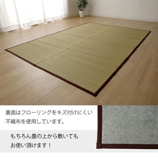 い草マット | い草ラグカーペット 無地 『DX本草』 約100×140cm|arinkurin|04