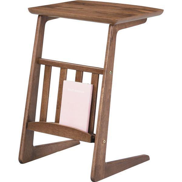 木製、天然木 | ソファサイドテーブル (Tomte)トムテ 木製(天然木) 棚収納付き TAC239WAL|arinkurin