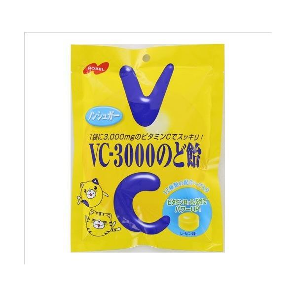 ノーベル VCー3000のど飴レモン 90g×12個 【送料無料】