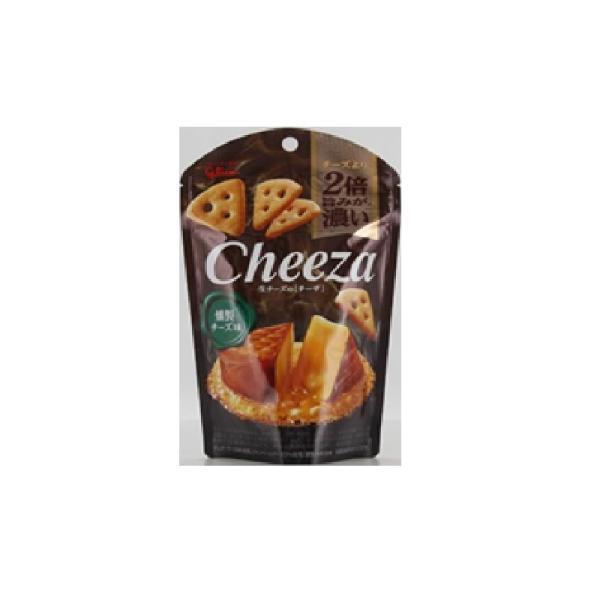 グリコ<br> 生チーズのチーザ<燻製チーズ味> <br>40g×10個 <br>【送料無料】<br>