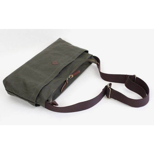 5ポケット 横型ショルダーバッグ コットンパラフィン  INDIS(インディス) cl2868【日本製】