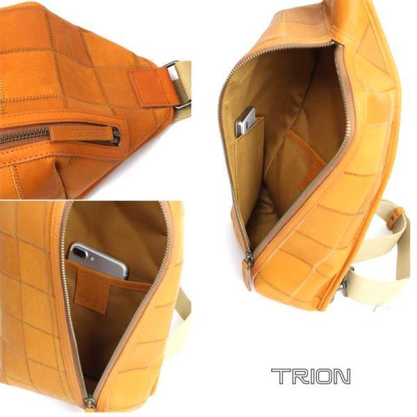 ボディバッグ TRION トライオン パネルレザー デイリーシリーズ DP106