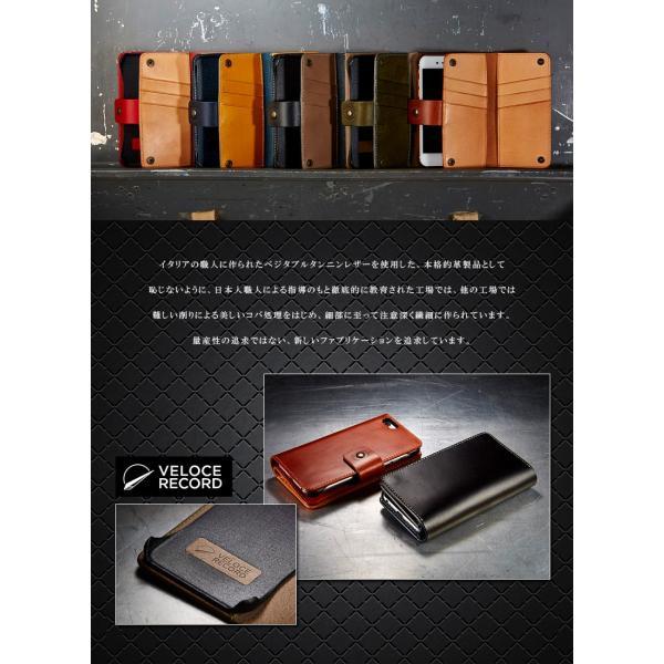 iPhone6用カードウォレット 手帳型携帯ケースVELOCERECORD ヴェローチェレコルト VRJ-CWIP6|arista|04