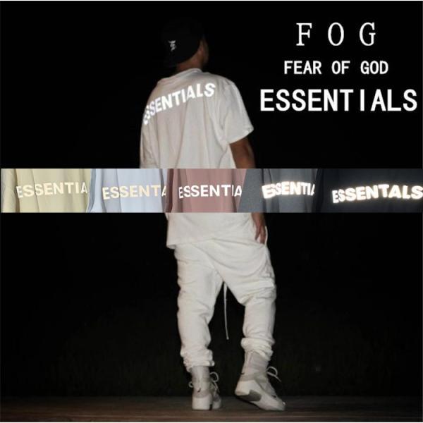 在庫処分 Fear of God essentials Tシャツ メンズ レディース 半袖 FOG ESSENTIALS フィアオブゴッド エフオージー エッセンシャルズ Boxy REFLECTIVE-SS-B
