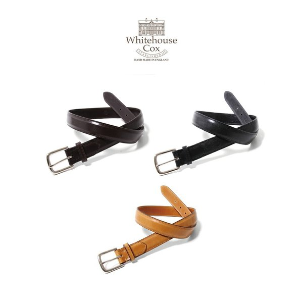 Whitehouse Cox (ホワイトハウスコックス ) / BRIDLE LEATHER 28mm-B-8665 (レザー ベルト ギフト プレゼント ラッピング可能)|arknets