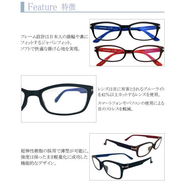 ブルーライトカット 老眼鏡 エアロリーダー[全額返金保証]メガネ 眼鏡 女性 用 メガネ シニアグラス レディース おしゃれ リーディンググラス スマホ armsstore 05