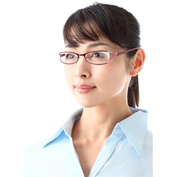 ピンクステン 遠近両用メガネ[全額返金保証] 老眼鏡 おしゃれ 女性用 中近両用 眼鏡 遠近両用 老眼鏡 シニアグラス|armsstore|05