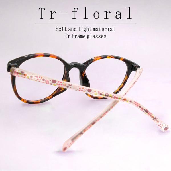 TRフローラル 遠近両用メガネ(デミ)(TR-9097)[全額返金保証] 老眼鏡 おしゃれ 女性用 中近両用 眼鏡 遠近両用 老眼鏡 シニアグラス|armsstore