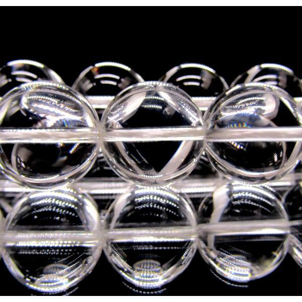 天然クリスタル(天然水晶) 5A 16mm ラウンド 1連 38cm|arnavgems|02