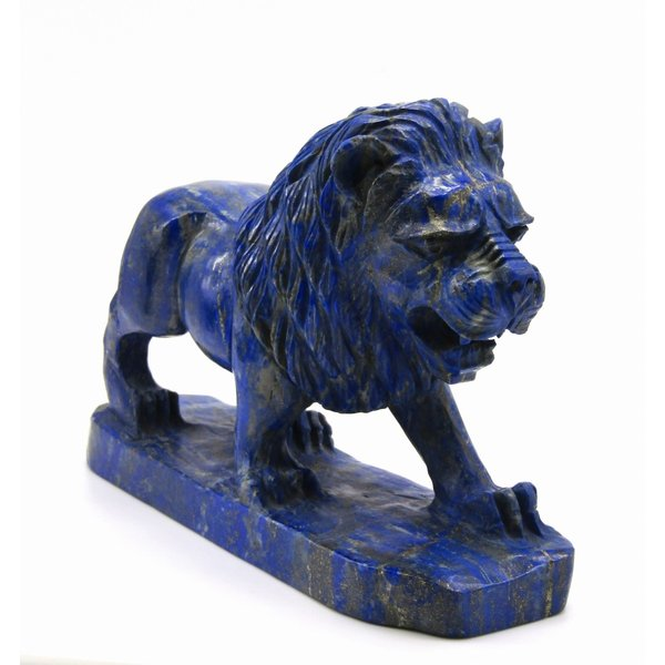 極上 ラピスラズリ ライオン 彫刻 高品質!! ケース付き arnavgems