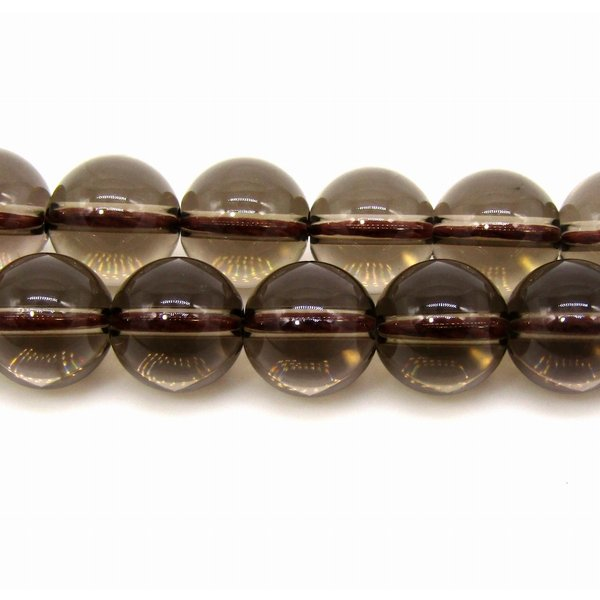 スモーキークォーツ (煙水晶)  8mm ラウンド 1連 38cm|arnavgems|02