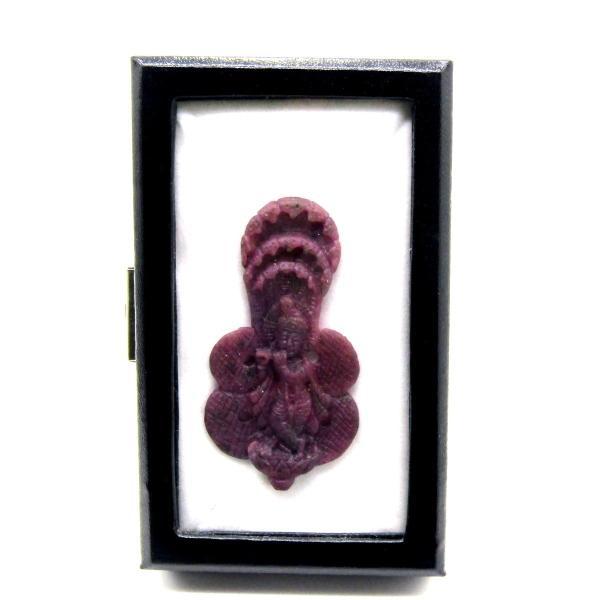 天然ルビー!! クリシュナ像(インドの神様) ディスプレイ 高級ケース付き arnavgems 05