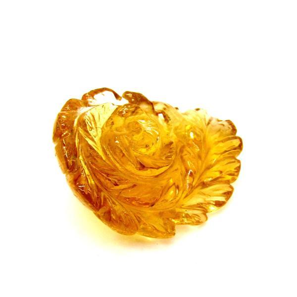 透明度最高品質!! 天然シトリン 手彫りフラワー  50.0ct|arnavgems|03