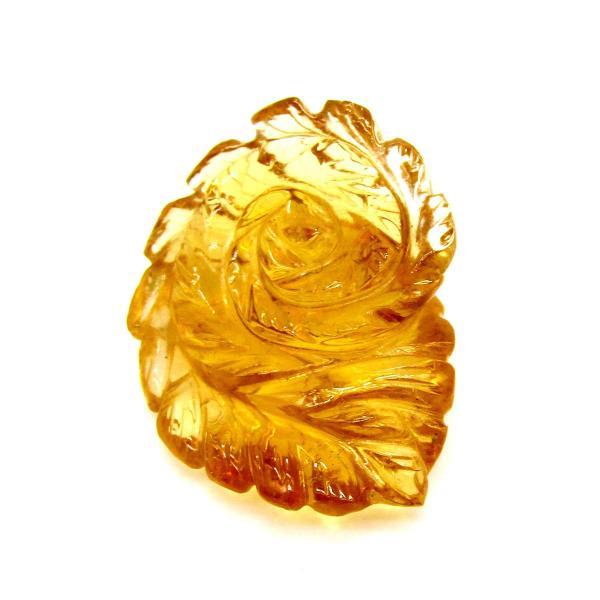透明度最高品質!! 天然シトリン 手彫りフラワー  50.0ct|arnavgems|04