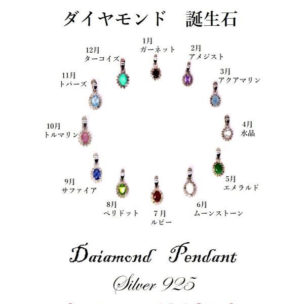 ダイヤモンド 10月:誕生石  ガーネット Silver925 ペンダントトップ ※チェーン含まず|arnavgems|02