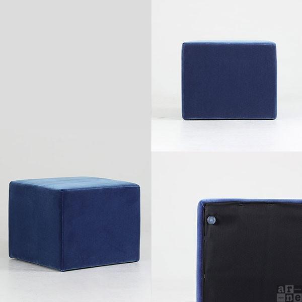 スツール キューブ 四角 スクエア 椅子 イス ベンチ ソファ ソファー 腰掛け 背もたれなし Cube's L58 モケット ベロア|arne-rack|02