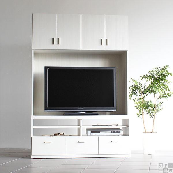 テレビ台 壁面 収納 完成品 ハイタイプ 120 おしゃれ 北欧 大型 テレビボード シンプル ID-120TV|arne|03