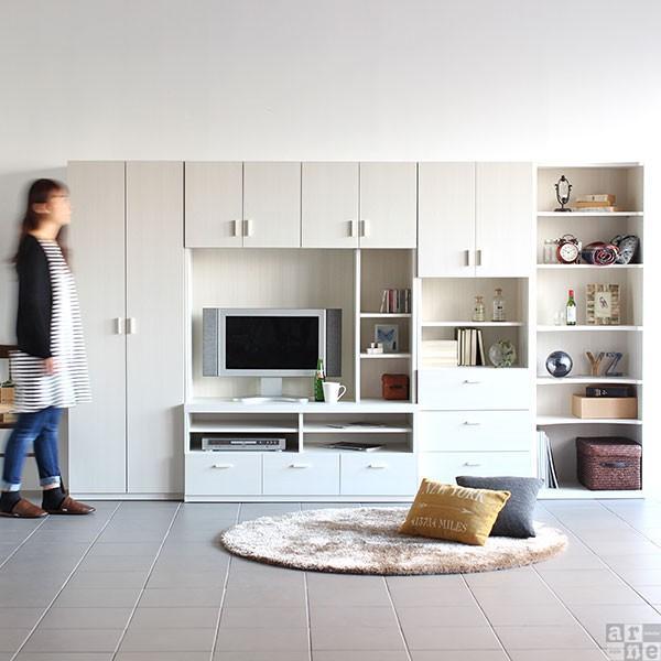 テレビ台 壁面 収納 完成品 ハイタイプ 120 おしゃれ 北欧 大型 テレビボード シンプル ID-120TV|arne|05