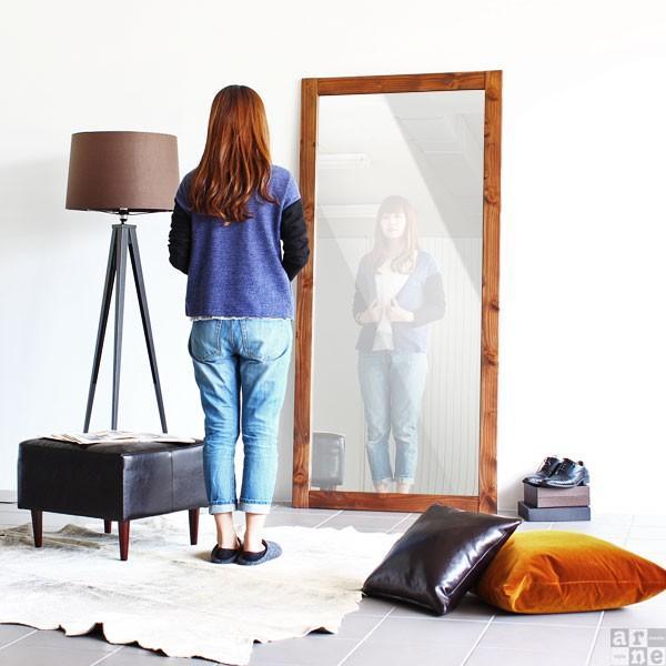 全身鏡 おしゃれ ワイド 大型 鏡 ウッドミラー アンティーク ミラー 全身ミラー おしゃれ 西海岸 STYLE JUMBO MIRROR|arne|05