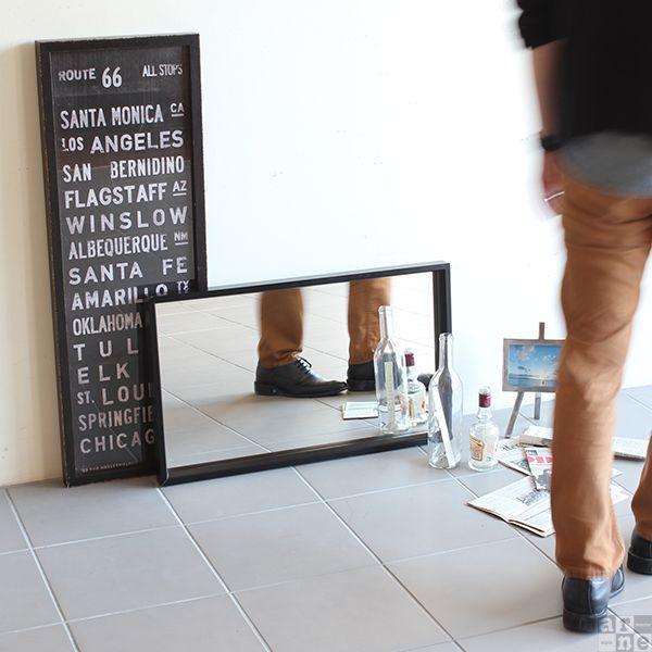 スタンドミラー 卓上 おしゃれ 洗面所 鏡 木枠 四角 壁掛けミラー ウォールミラー ブラック 軽量 玄関 シンプル sm002|arne|05