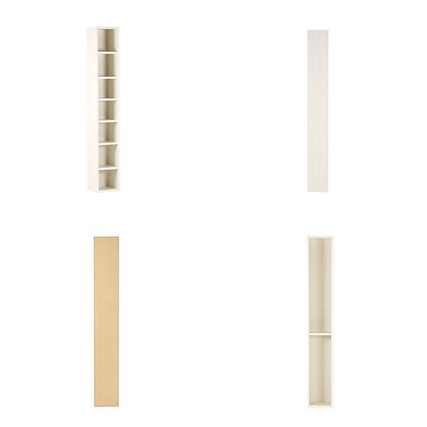 本棚 完成品 薄型 オープンラック オシャレ スリム 省スペース 本収納 隙間収納 飾り棚 おしゃれ 頑丈 7段 木製 A4 白|arne|03