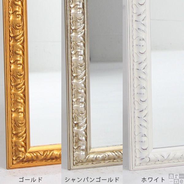 ウォールミラー おしゃれ 玄関 姿見 鏡 壁掛け アンティーク ミラー ホワイト 壁掛けミラー F-006WM2090|arne|02