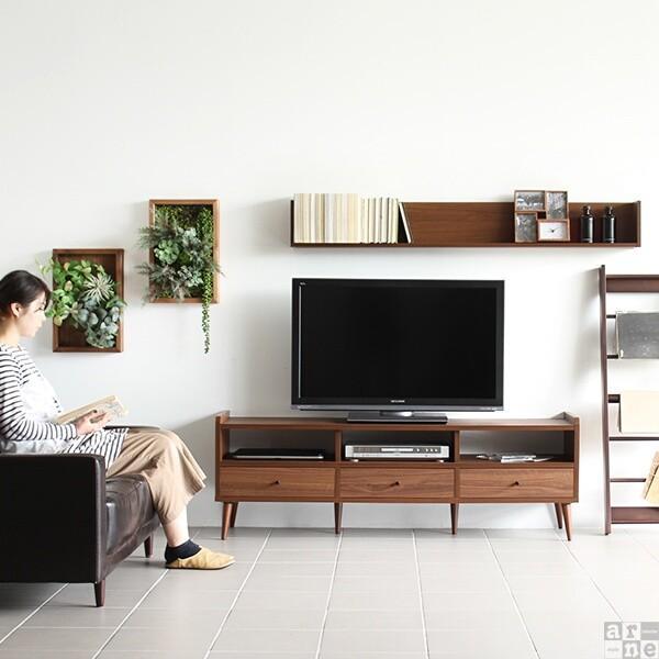 テレビ台150cm幅 白 アンティーク 高さ40以上 脚付き 50インチ おしゃれ 北欧 テレビボード 完成品|arne|08