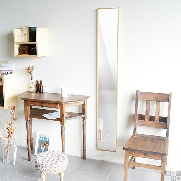 ウォールミラー 軽量 150 スリム 壁掛けミラー おしゃれ 全身 ミラー 姿見 鏡 全身鏡 壁掛け 白 ホワイト WM2215|arne|03