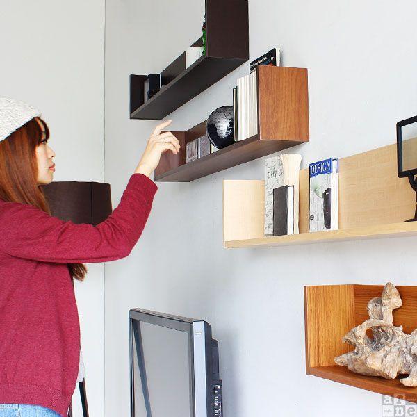 ウォールラック 壁掛け 棚 収納 木製 壁掛けラック 薄型 本棚 北欧 おしゃれ Wall Box F-1200 コの字型 薄型 単品 arne アーネ|arne|03