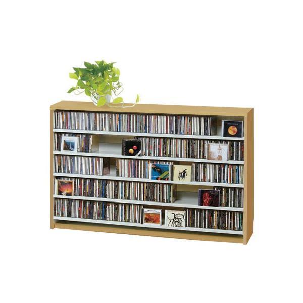 CDラック おしゃれ DVDラック ロータイプ 大容量 CD 収納 ディスプレイ 棚 ナチュラル|arne